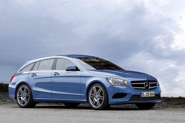 Mercedes render dei modelli cls shooting break e nuova for Mercedes benz cls station wagon