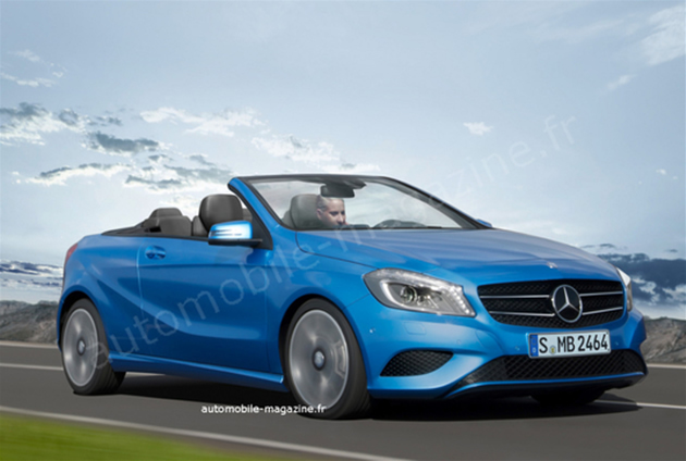 classe a cabriolet render
