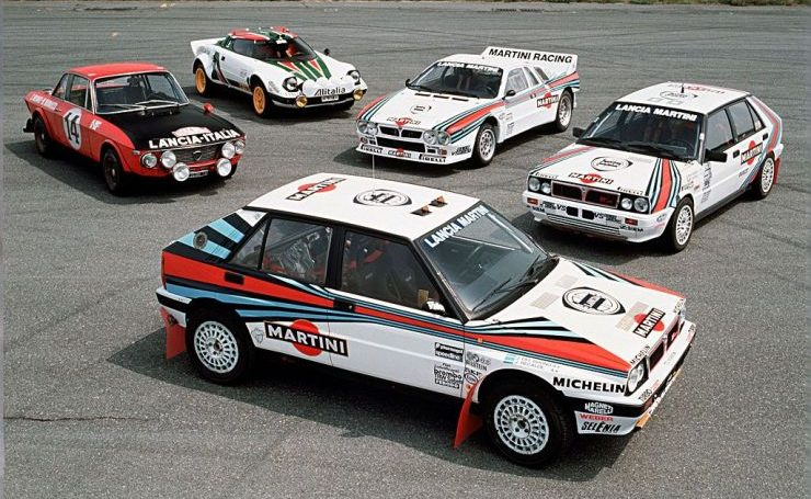 Auto da Rally mitiche: Lancia Delta Integrale e S4 e Lancia Stratos
