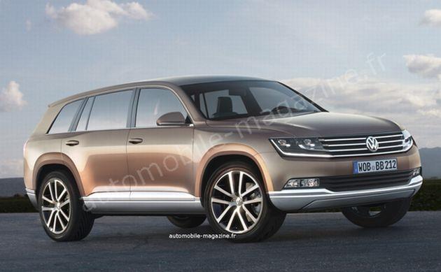 Volkswagen roccan il render della nuova tiguan a 7 posti for Suv compatti economici